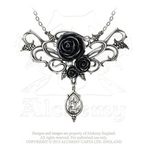 Bacchanal Rose Necklace by Alchemy Gothic - $79.15