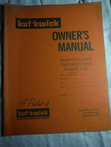 Kut-Kwick HT-1000-36 HT-1600 lawn tractor manual orig owner's parts manual rare - $16.41