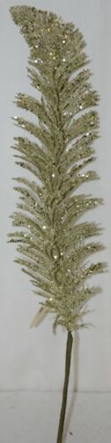Tii Collection's G3229 Silver Swirl Decorative Feather
