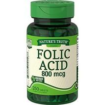 Nature's Truth Folic Acid 800 mcg | 250 Tablets | Vegetarian, Non-GMO & Gluten F - $11.87