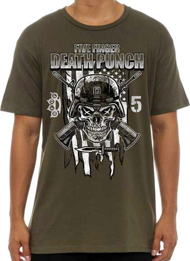 Primary image for Five Finger Death Punch-Infantry Special Forces-X-Large Army Green  T-shirt