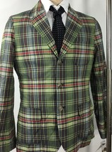 Polo Ralph Lauren Jacket Boys Small 8 Madras Plaid Green Red Yellow Cotton - $139.52
