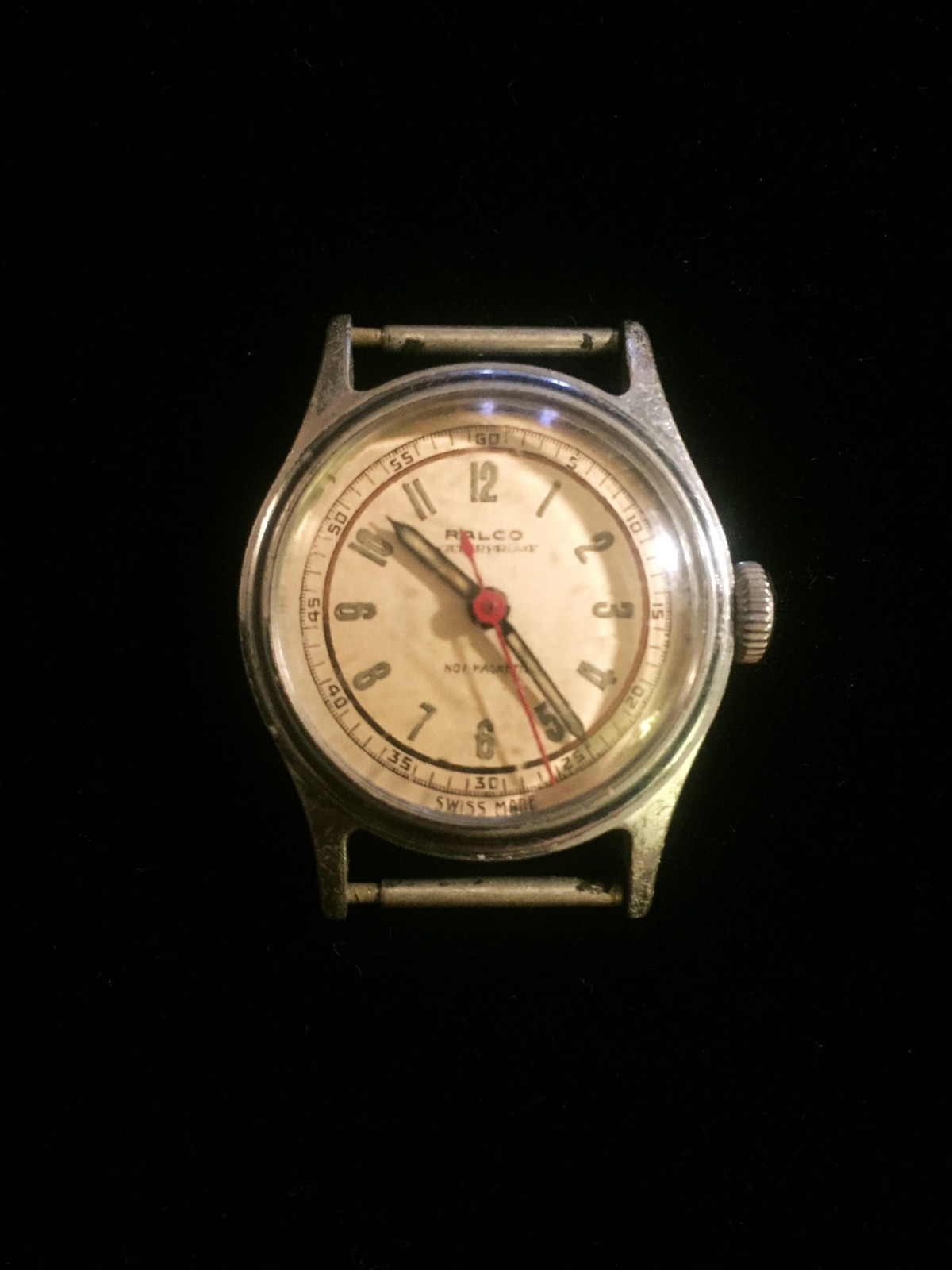 "Vintage Silver Ralco by Movado  1 1/8"" watch (No band)"