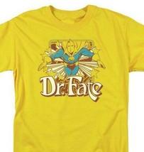 Dr Fate T-shirt retro 80s DC comic book cartoon superhero gold  tee DCO682 image 1