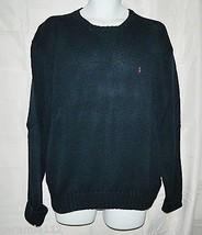 Polo Ralph Lauren Sweater Navy Blue Cotton Crewneck Long Sleeve size Large - $29.67
