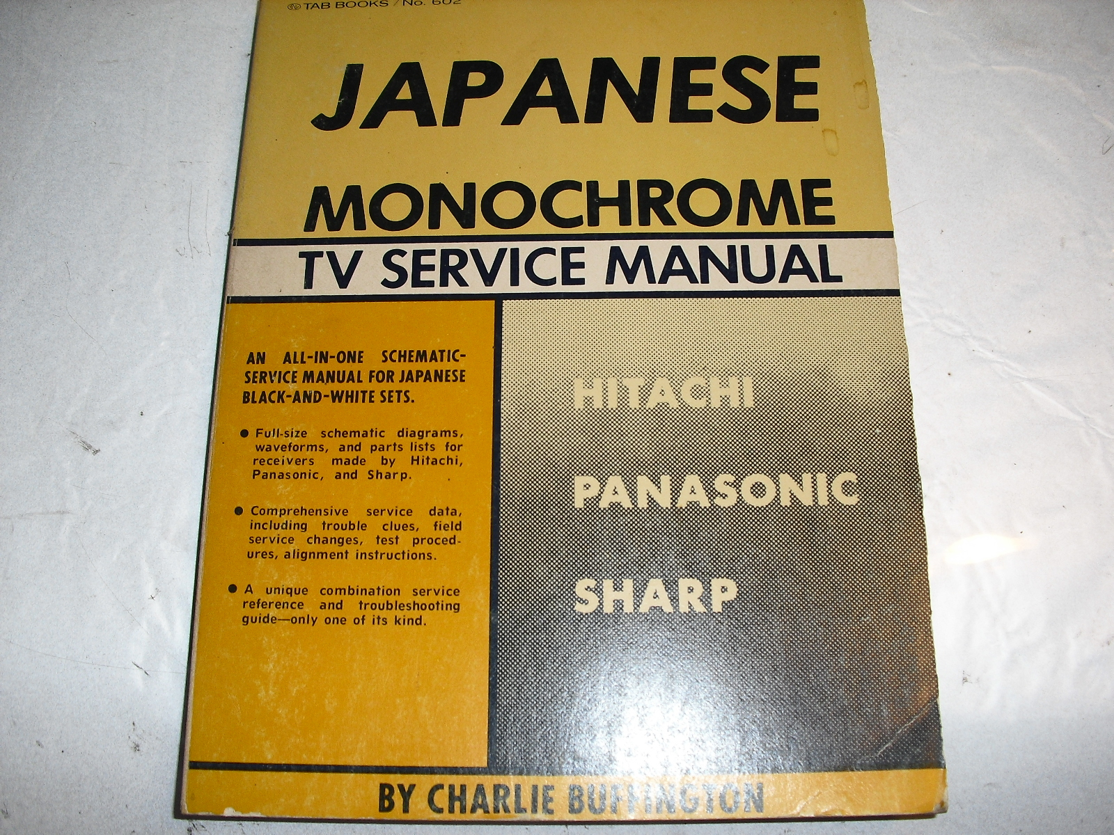 japanese  monochrome  tv  service  manual