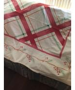 Vintage Mid-Century Tablecloth Pine Needles Berries Mid Century 48/70 (tx) - $29.70