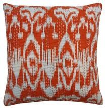 Cushion Valances Bedding Sofa Cushion Cover Decorative Orange Kantha Pil... - $9.49+