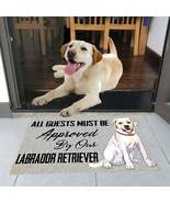 All Guests Must Be Approved By Our Doormat, Labrador Welcome Mat, Dog Lo... - $29.65+