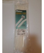 "15.1"" 50lb Tensile Natural Nylon 6.6 Std Dome-Top Barb-Ty Cable Ties Pan... - $20.25"
