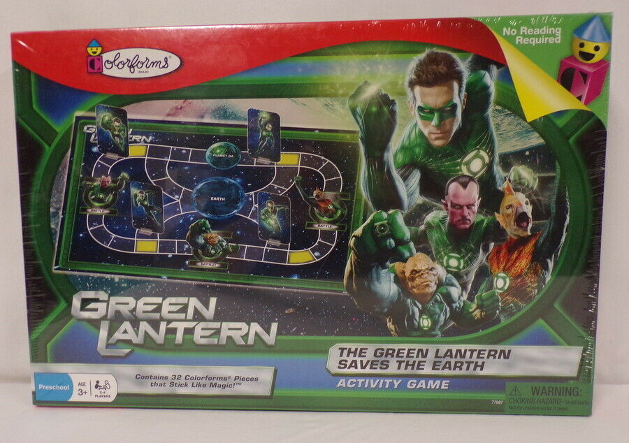 Primary image for VINTAGE SEALED 2011 Green Lantern Saves Earth DC Colorforms Game Ryan Reynolds