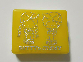 PATTY&JIMMY Plastic Case Yellow Old SANRIO 1976' Vintage Retro Appendix ... - $39.27