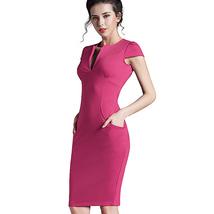 Women Long Sleeve Buttons Down Pencil Dress Evening Party Bandage Midi D... - $28.00