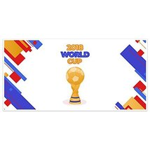 Abstract Trophy 2018 World Football Cup Banner Party Decoration - £16.88 GBP