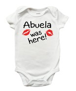 Grandma Was Here Shirt, Mothers Day Shirt and Romper for Girls, Abuela, ... - $9.99+