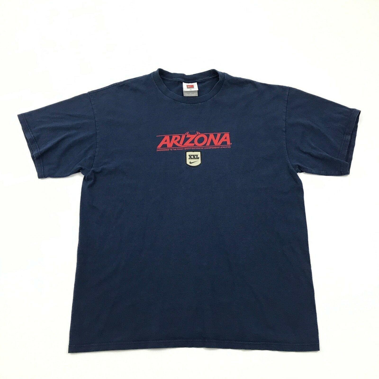 78074d71aac15 57. 57. Previous. VINTAGE Nike Arizona Shirt Men Extra Large XL Blue Tee  Loose Fit UofA BEARDOWN