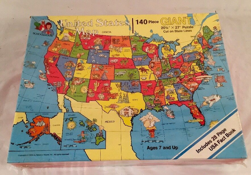 United States Map Giant 140 Piece And Similar Items - Us-map-jigsaw-puzzle