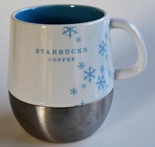 2007 Starbucks ~ Holiday Snowflakes ~ Stainless Steel Base ~ Coffee Cup Mug - $17.95