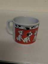 Vintage Zak Designs small plastic 101 Dalmatians Graphic Cup Mug Rare - $31.24