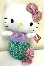 "Extra Large 16.5"" tall Sanrio Hello Kitty Mermaid Plush Toy Doll NWT. Soft. - $25.47"