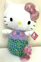 "Extra Large 16.5"" tall Sanrio Hello Kitty Mermaid Plush Toy Doll NWT. Soft. - $25.47"
