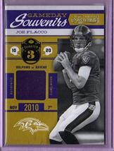 2011 Timeless Treasures Game Day Souvenirs 3rd Quarter #13 Joe Flacco - ... - $7.59