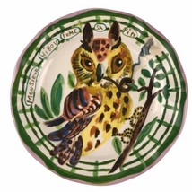NATHALIE LETE Anthropologie Owl Monsieur Hibou Fume Sa Pipe Plate Smokin... - $93.14