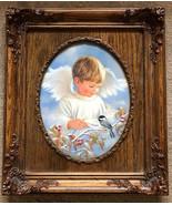 Winter Angel Dona Gelsinger Artist Embellished Limited Edition Canvas Fr... - $127.71