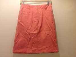 Talbots Petite Light Orange/Salmon Med Weight Denim Skirt Sz 4 - $44.55