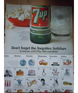 7-UP Don't Forget The Forgotten Holidays Print Magazine Advertisement  1967 - $7.99