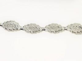Vintage Silver Tone Link Bracelet fold over clasp - $13.50