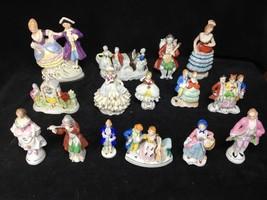 15 Piece Lot Antique Victorian Porcelain Figurine Collection Japan Germany - $128.69
