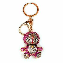 PINK DORAEMON RHINESTONE KEY RING Key Chain Sparkling Crystal Cartoon Ma... - $0.05