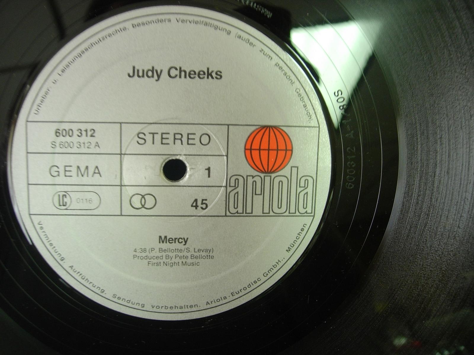 Judy Cheeks - Mercy - Ariola 600 312
