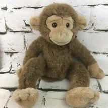 Vintage Russ Berrie Jimby Plush Monkey Brown Chimp Beanbag Stuffed Anima... - $29.69