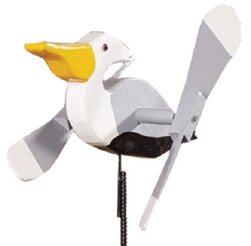 Primary image for PELICAN WIND SPINNER - Amish Handmade Whirlybird Weather Resistant Whirligig USA