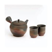 GYOKO - (350cc/ml) 1pot & 2yunom Tokoname Kyusu Teekanne Keramik Mesh Ja... - $227.62