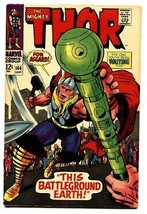 THOR #144 comic book 1967-JACK KIRBY-COLLETTA-MARVEL COMICS vf- - $61.79