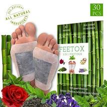 Foot Pads 30pc, BONUS EBOOK | LAVENDER, ROSE, MINT, GREEN TEA, GINGER | ... - $38.59