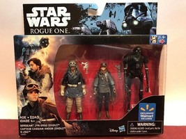 Star Wars Rogue One Exclusive Action Figure Set JYN ERSO Captain Cassian... - $13.67