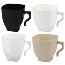 Kaya Collection - Plastic Coffee Mugs- Disposable Square Coffee/Tea Cups  - $15.99+