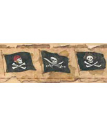 Arrr Its Pirate Wallpaper Border York Wallcovering BT2811 - $16.99