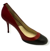 Michael Kors Red Black Pressley Pump Stiletto Size 7.5 M Heels Shoes - $24.89
