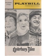 """National Theatre Playbill """"CANTERBURY TALES"""" Book by Starkie & Coghill 1970 - $3.00"""
