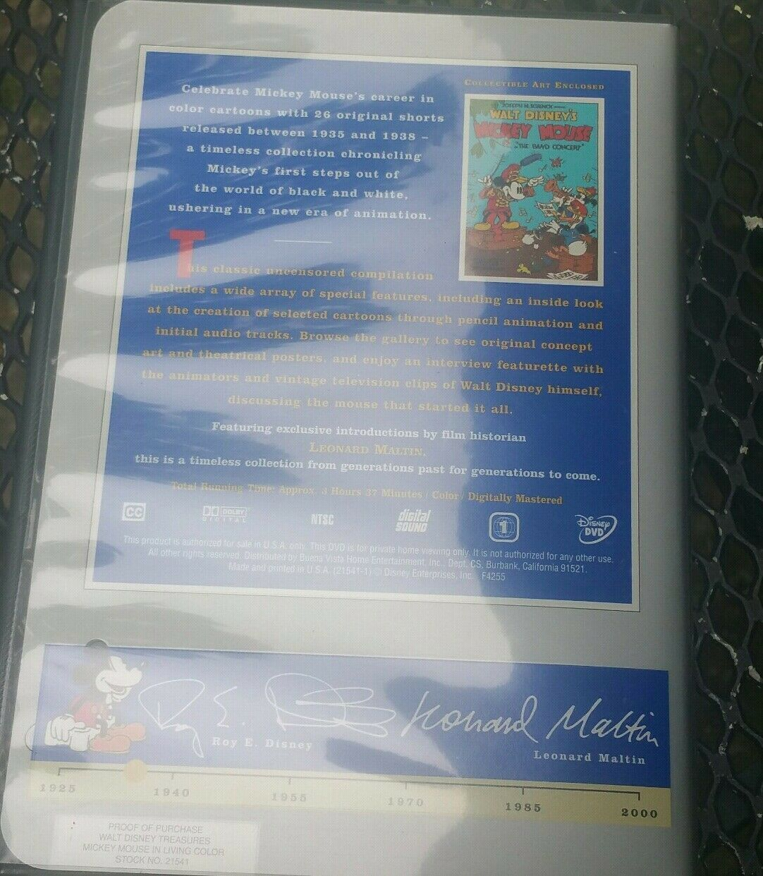 Walt Disney Treasures: Mickey Mouse In Living Color Numbered Tin DVD Set