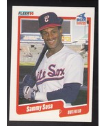 SAMMY SOSA 1990 FLEER #548 CHICAGO WHITE SOX ERROR CARD WRONG DOB  - $2.98