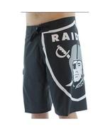 NWT Quiksilver NFL Oakland Raiders Men's 28 Boardshorts Board Shorts Swi... - $34.64