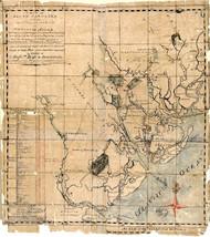 "1771 South Carolina 16""x18"" Map Real Property Plantations Genealogy Wall... - $16.34"
