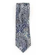 NEW THE MENS STORE BLOOMINGDALES NAVY BLUE PAISLEY SILK NECK TIE $59 - $29.69