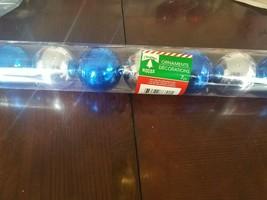 Christmas House 7 pc blue and silver bulbs upc 639277868015 - $18.69